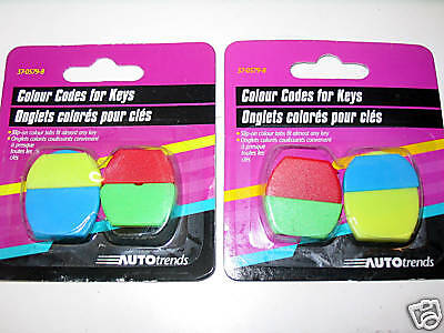 lot of - 80 - Color Codes/Tabs for Keys. 20 packages