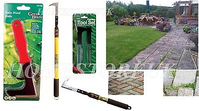 Garden Patio Slab Groove Weed Weeder Weeding Remover Knife 3 Sizes & Extendable