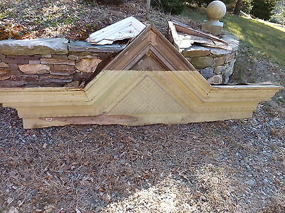 c1850-60 VICTORIAN style pediment PITTSBURGH, PA hotel CHECKERED design 108x39""