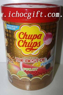 Chupa Chups Assorted Flavour Lollipops 100 pieces box