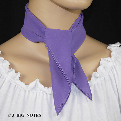 50s Style LAVENDER Sheer Chiffon Square Scarf for Poodle Skirt/ Sock Hop