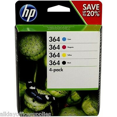 Genuine 4 Colour HP 364 Ink Cartridge Multipack For 5510 N9J73AE VAT included