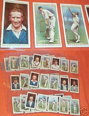 Set Of Fifty 1928 Cricket Cigarette Cards - Cricketers 1928