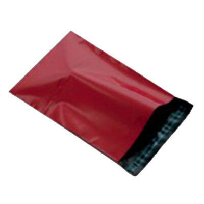 """500 Red 12"""" x 16"""" Mailing Postage Postal Mail Bags"""