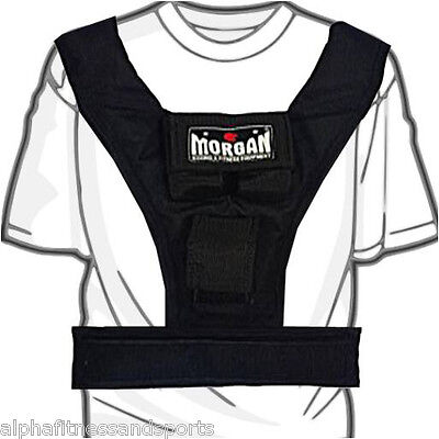 Morgan 10kg Weighted Vest Weight Adjustable MMA Training Fitness Gym Running New
