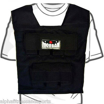 Morgan 15kg Weighted Vest Weight Adjustable MMA Training Fitness Gym Running New