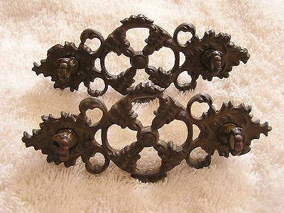 Antique Set of 2 Ornate Art Deco Drawer Handles