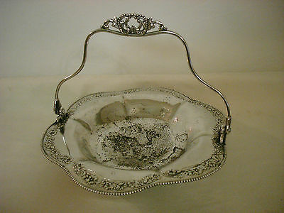 Vintage Pathpoint Mfg Co Quadruple Plate Silverplate Basket#1279 Fruit Nut Candy