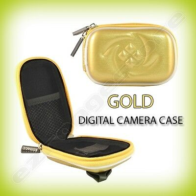 Gold Digital Camera Case Cover for Nikon Coolpix S6200 S1100PJ S80