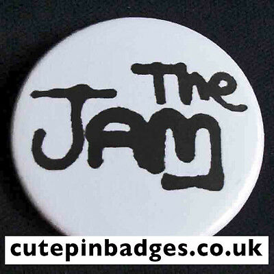 """The Jam Badge (25mm/1"""") Pin Button Mod Paul Weller Scooter New Wave Punk Indie"""