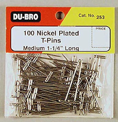 NEW Dubro T-Pins 1-1/4  (100) 253