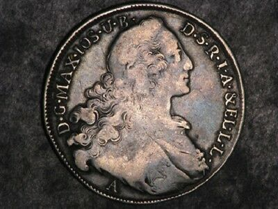 GERMANY-BAVARIA 1764A 1 Thaler Silver Crown #X226