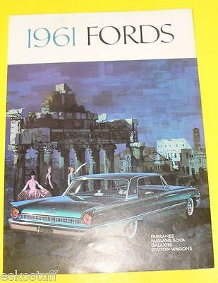 1961 Ford Full Line Automobile Sales Brochure Nice! SEE!