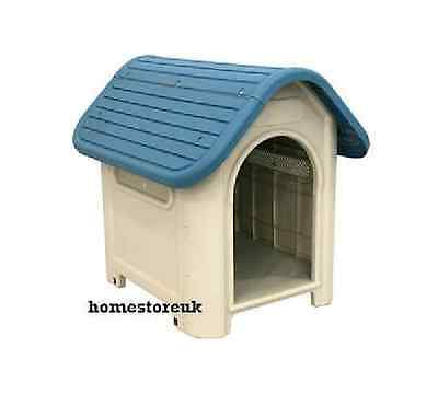 Deluxe Pet Dog Doggy Puppy Plastic Kennel House Doghouse Indoor Outdoor Shelter