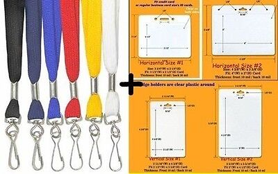 30 NECK Lanyards STRAPS ~ Safety Breakaway Style + 30 ID Holders Pick your Color