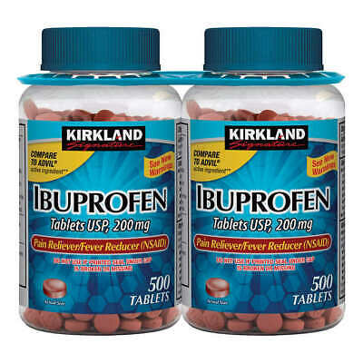 Kirkland Ibuprofen 1000 (200mg) Tablets - 2 Bottles/500 ea *** FREE SHIPPING***