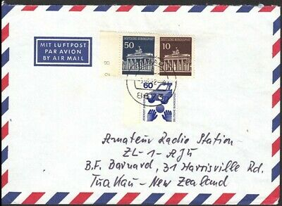 Germany 1972 Cover To New Zealand - Scarce Sheet Stamp