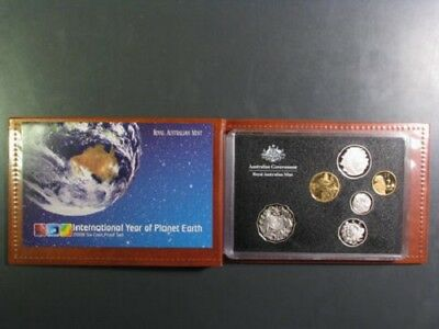 AUSTRALIA 2008 6 piece Proof Set in Red Wallet # BOX 20