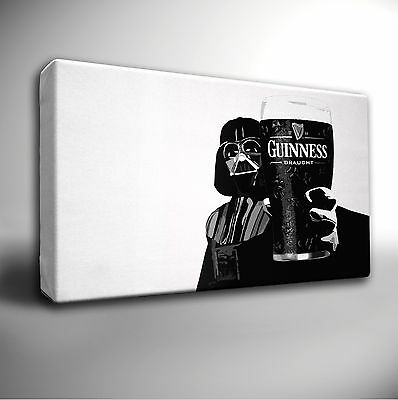 STAR WARS DARTH VADER GUINNESS - GICLEE CANVAS ART PRINT *Choose your size