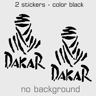 2 x DAKAR RALLY Sticker Decal - Multiple sizes and colors