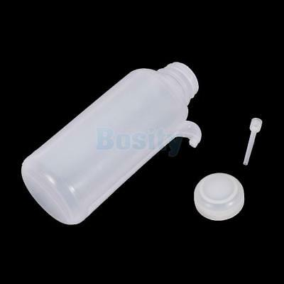 500ml Capacity Cylinder Body White Plastic Lab Bottle Squeeze Dispensing Bottle
