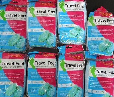 Travel Feet 0376 Disposable Non-Skid Foot Covers TSA Approved 8(2 PKS)
