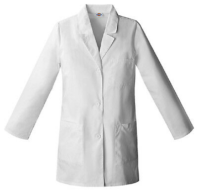 "Scrubs Dickies Womens 32"" Lab Coat White 84400  FREE SHIPPING!"
