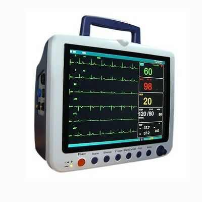 ICU Vital Sign Patient Monitor SPO2 ECG NIBP RESP PR TEMP Multi-Parameter Sale!