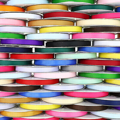 "25m Reel Grosgrain Ribbon - 10mm (3/8"") width - Various Colours"