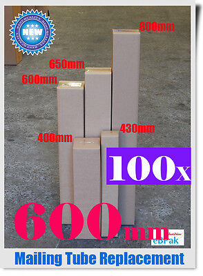 100 100x100x600mm Mailing Box Long Tall Shipping Carton Tube Replacement STRONG
