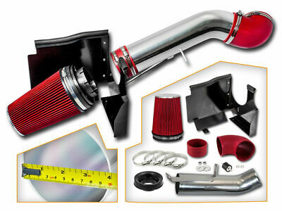 RED Air Intake Kit Heat Shield For GMC 09-11 Sierra Yukon V8 Denali 4.8 5.3