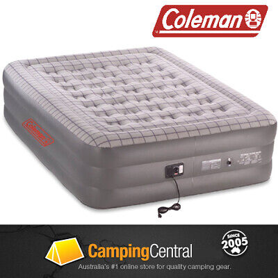 Coleman Quickbed (With 240V Pump) Double Height Air Quick Inflatable Bed Queen