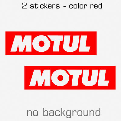2 x MOTUL Sticker Decal - Multiple sizes and colors