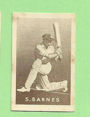 1937  Griffiths  Sweets Cricket Card - S. Barnes