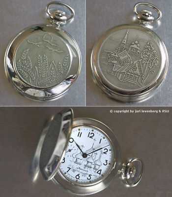 MOLNIJA 3602 Taschenuhr Russian Orthodox Church mechanical pocket watch