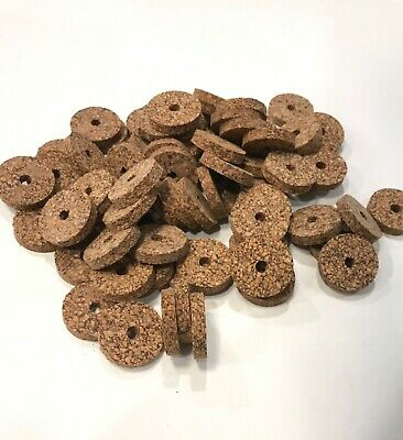 BLACK SPOTTED 1 1//4 X 1//4 X 1//4 BORE CORK RINGS 12 BROWN