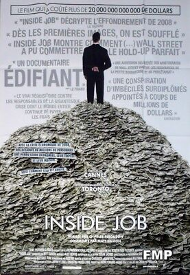 The Inside Job - Financial Crisis - Original Large French Movie Poster