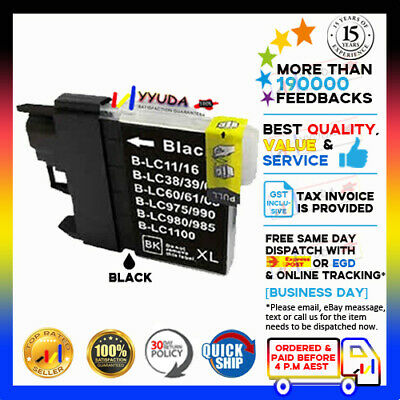 5 BLACK ONLY INK CARTRIDGE LC-67BK for BROTHER DCP-145C DCP-165C DCP-185 PRINTER