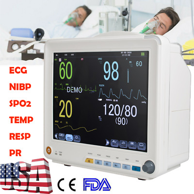 Portable Vital Signs Patient Monitor 6-Parameters Hospital ICU CCU Monitor USFDA
