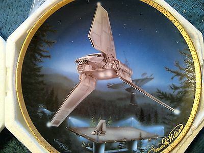 Star Wars Hamilton Plate: Imperial Shuttle Signed by Artist Sonia Hillios
