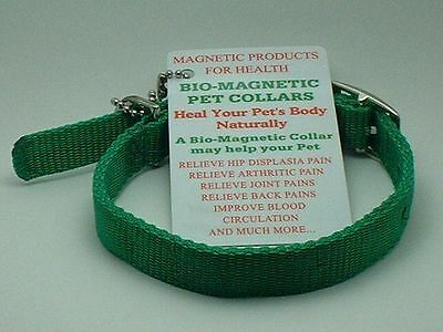 "Magnetic Animal Dog Cat Health Collar Green 24"" Long"
