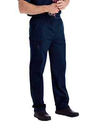 Scrubs Landau Mens Cargo Pant 8555 Navy  Buy 3 Ship $6