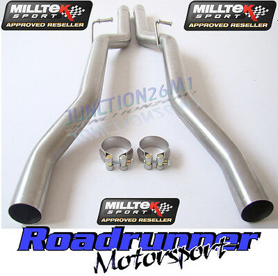 Audi RS4 B7 Milltek Exhaust Non Resonated Centre Pipes MSAU307REP & MSAU308REP