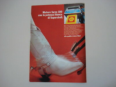 advertising Pubblicità 1970 SHELL SUPERSHELL