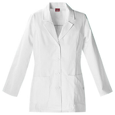 Scrubs Dickies Women's Fashion Lab Coat White  84405  FREE SHIPPING!