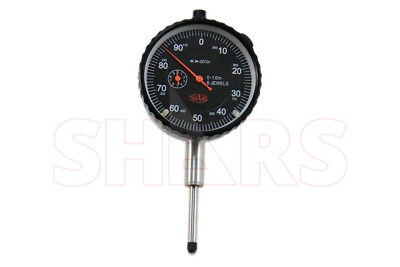 """1"""" Premium 6 Jewels Dial Indicator .001"""" AGD2 W/Certified Carbide Point+Lug Back"""