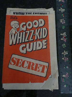 WHIZZER & CHIPS - Sids good whizz kid guide Mini Comic (Date unknown)