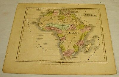 1831 Olney COLOR MAP of AFRICA