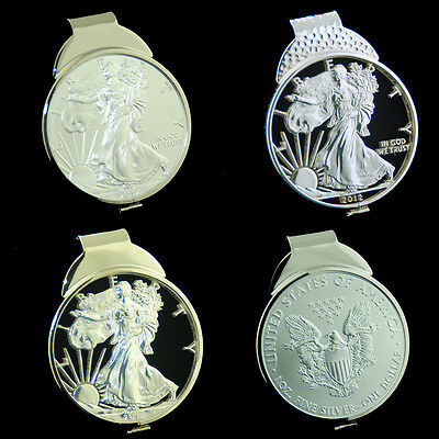 American Silver Eagle 1 oz Dollar Cut Out Coin Money Clip Jewelry Gift
