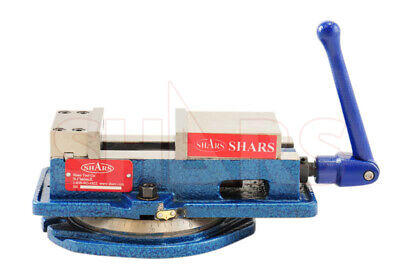 "SHARS 4 x 4-1/8"" Precision Mill Vise Anti-Jaw Lifting W/ Swivel Base CNC New"